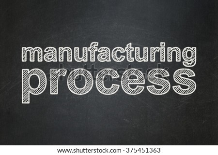 Manufacuring concept: Manufacturing Process on chalkboard background