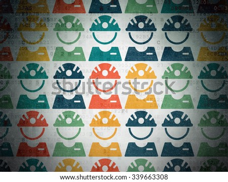 Manufacuring concept: Painted multicolor Factory Worker icons on Digital Paper background - stock photo