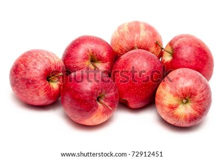 many apples isolated on white background - stock photo