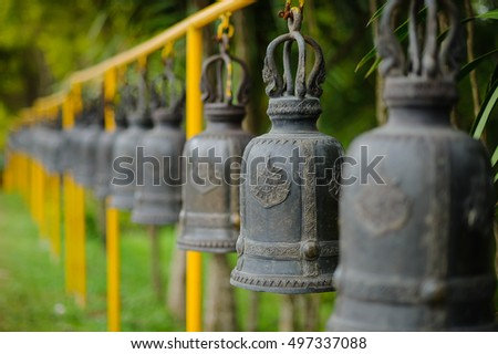 many bells at kanchana pisek grand pagoda, Khaokho petchabun