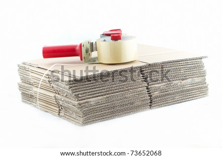 many cartons with a sticky tape