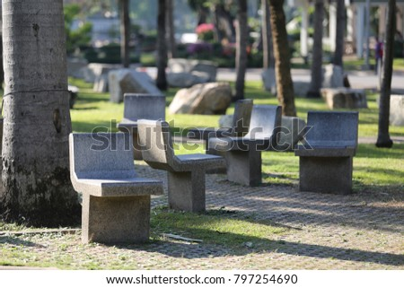 many chair in the park
