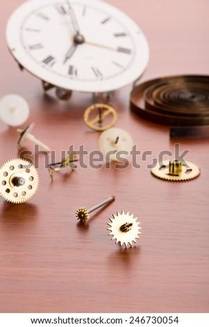 Many clock details  - stock photo