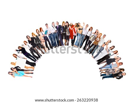Many Colleagues Business Picture  - stock photo