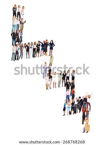 Many Colleagues Office Culture  - stock photo