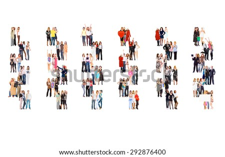 Many Colleagues Together we Stand  - stock photo