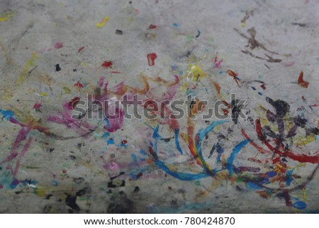 many color paint on the floor