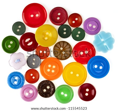 many colored buttons background