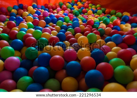 Many Colorful Balls. - stock photo