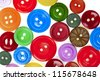 many colorful buttons background - stock photo