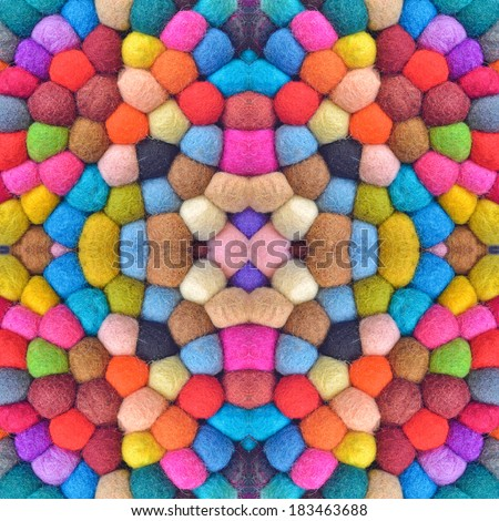 many colorful yarn balls pattern - stock photo