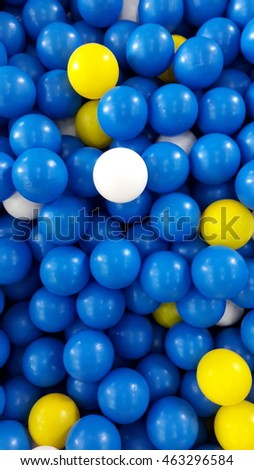 Many colour plastic balls from children's small town, ball house