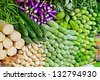 many different indian traditional  vegetables - stock photo