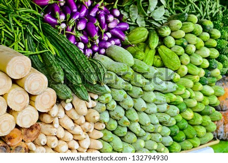 many different indian traditional  vegetables