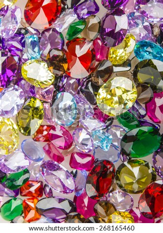 Many different natural gemstones - stock photo