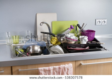 Kitchen Sink With Dishes dirty dishes stock images, royalty-free images & vectors