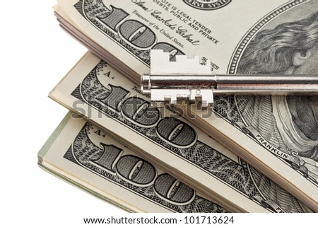 many dollar bills are in each stack - stock photo