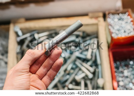 many fastening tools. - stock photo