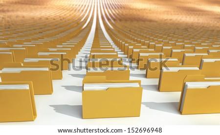 many folders. abstract. 3d - stock photo