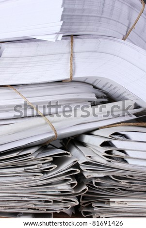 many folders and documents