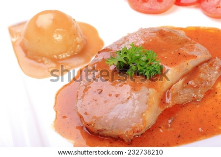 many food menu for eat  - stock photo