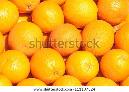 many fresh raw orange - stock photo