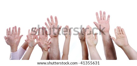 Many hands isolated