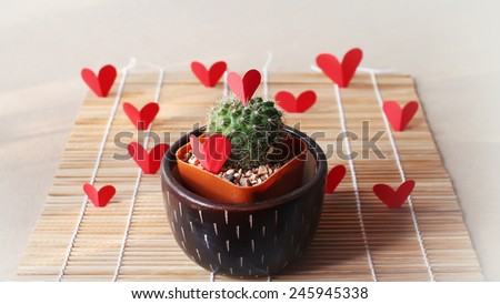 many heart ,a gift for Valentine's day - stock photo