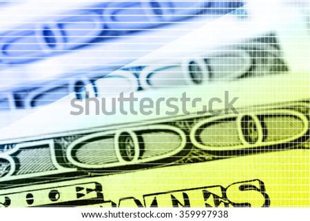 Many hundred dollars, macro view - stock photo