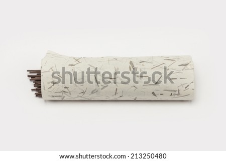 Many incense with paper. - stock photo