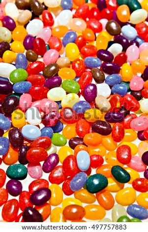 Many Jelly Beans in a heap