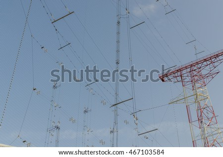 many lines for connection to a transmitting system