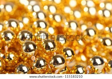 Many little golden balls - stock photo