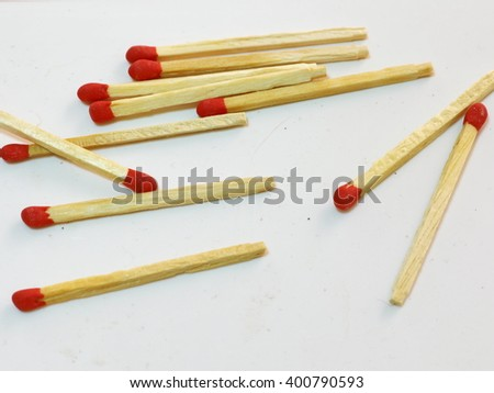 Many Matchstick On white paper