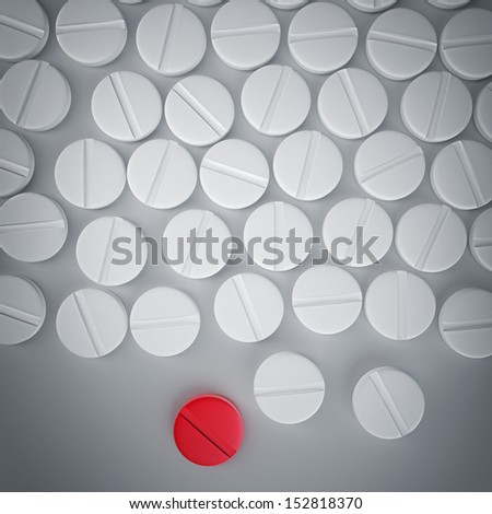 Many medicines pills. Background high resolution 3d illustration - stock photo