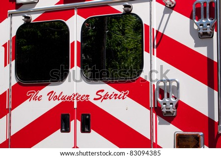 Many mountain towns have Volunteer fire and ambulance services - stock photo