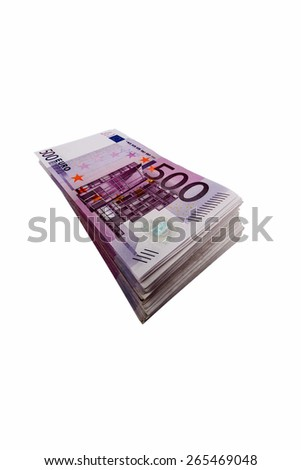 many of five hundred euro bills. photo icon for wealth and investment - stock photo