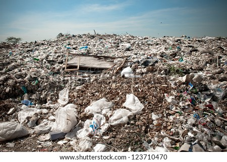 Many of Garbage, pollution, Global warming - stock photo