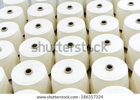 Many of the yarn is put together   - stock photo