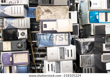 Many Old Computer - stock photo