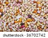 Many pieces and many kind of beans, wallpaper, pattern - stock photo
