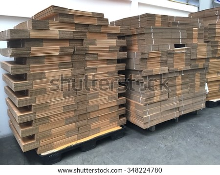Many pile of paper box ream - stock photo