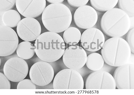 Many pills close up - stock photo