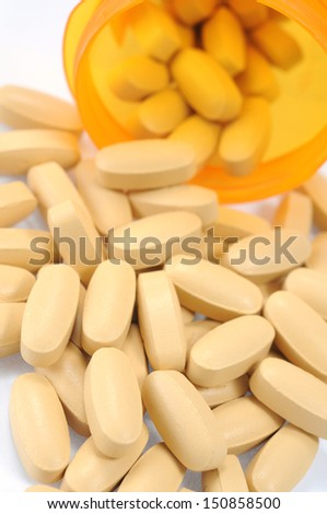 many pills  in plastic box
