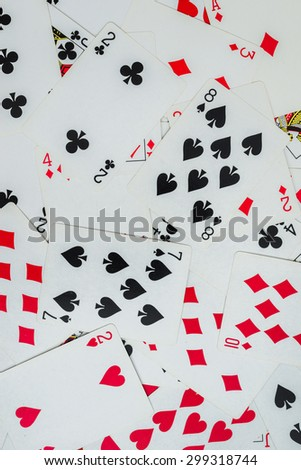 Many Playing cards is background