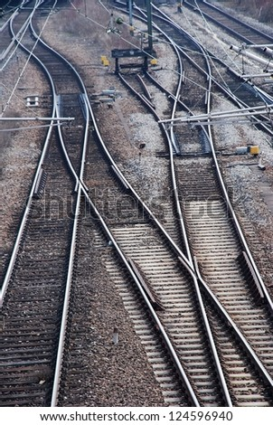 many railway tracks leading to different ways