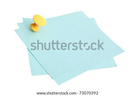 Many reminder notes  isolated on a white background - stock photo
