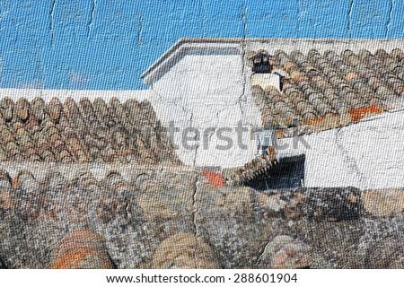 Many roof - stock photo