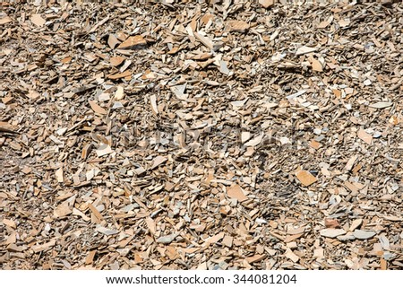 Many sharp jagged pieces of broken shale stone laying on the ground create a wonderful full-frame background texture. - stock photo