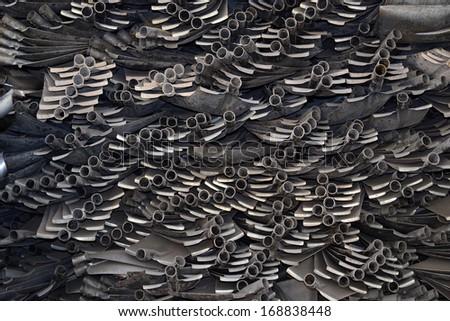 Many shovel piled up together  - stock photo